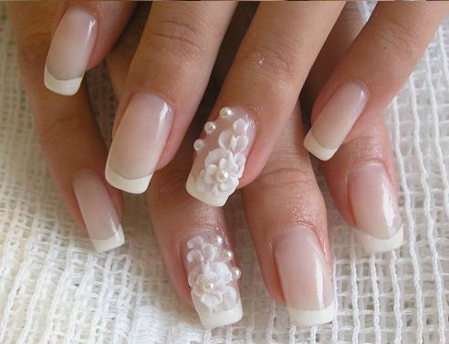Paznokcie lubne galeria 1 wzorki na paznokcie - Decoracion de unas de gel para novias ...